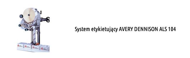 System etykietujący AVERY DENNISON ALS 104